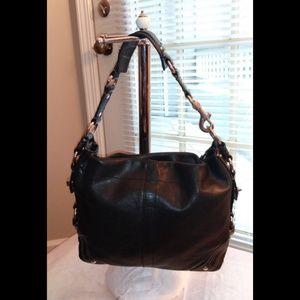 Coach Bags - Coach Carly Black Leather Hobo Handbag 10615